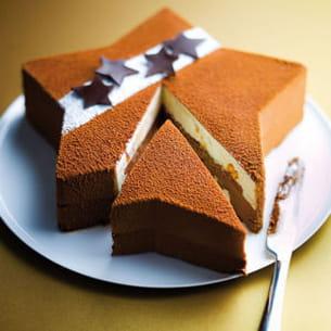 étoile pâtissière chocolat-vanille
