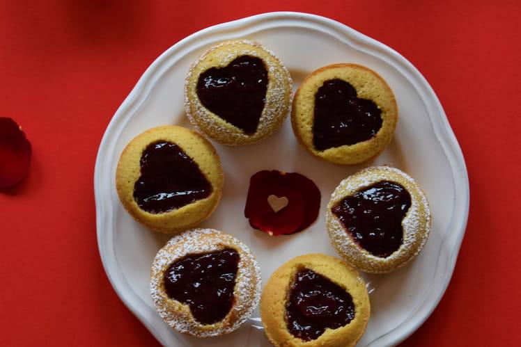 Muffins à la vanille et à la confiture sans gluten sans lactose