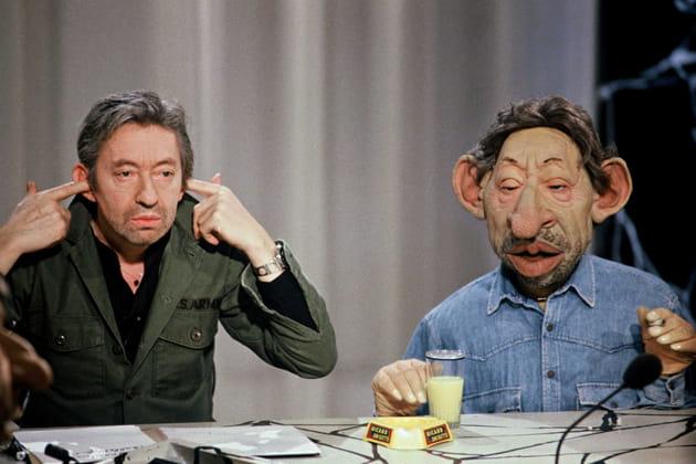 Serge et son double de l'émission des Guignols