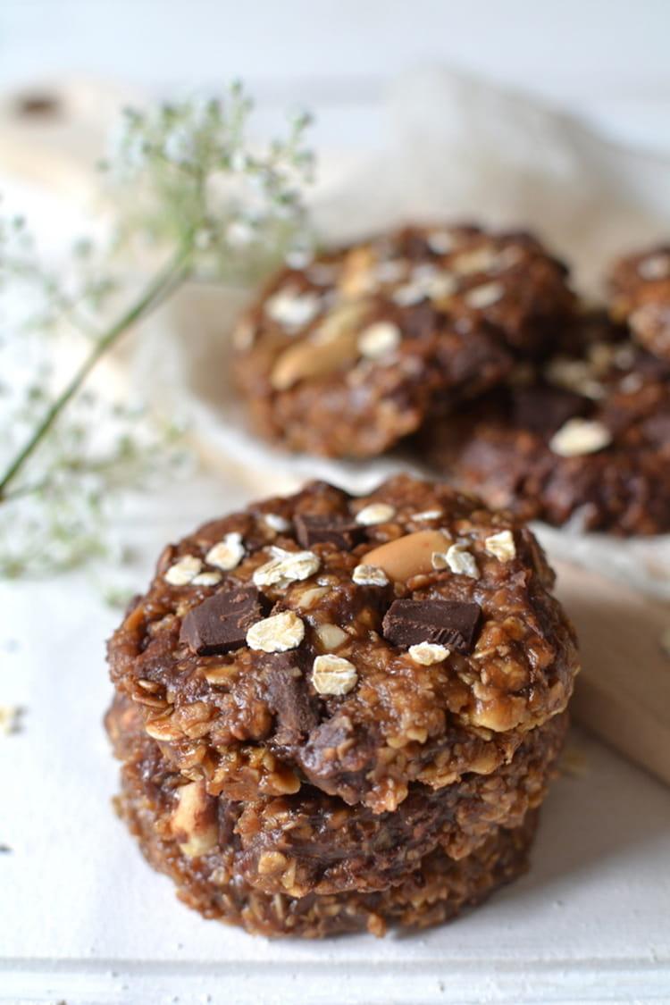 Recette de Cookies chocolat-cacahuète sans cuisson