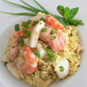 riz pilaf de la mer