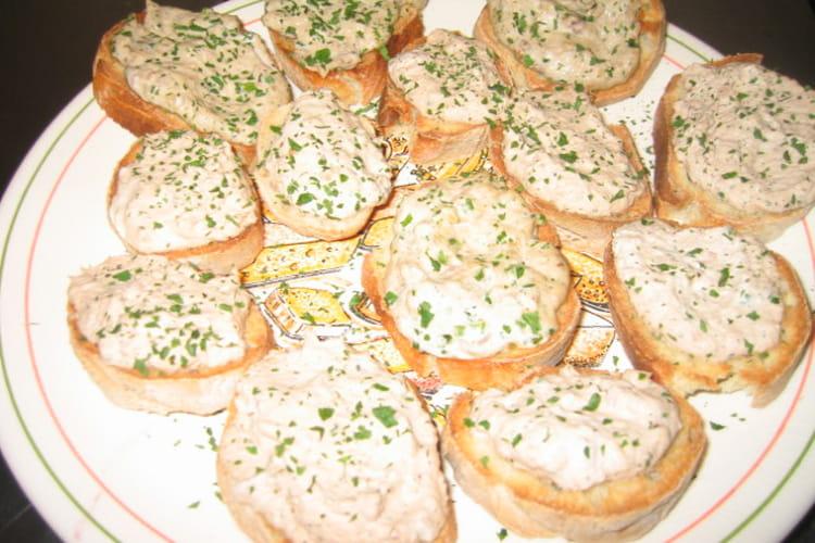 Rillettes de thon sur toasts