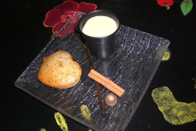 Financiers noisettes et crème maracuja