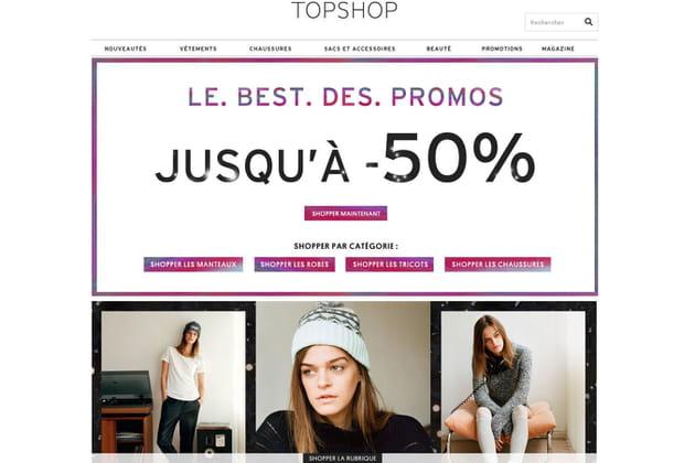 Le e-shop de Topshop