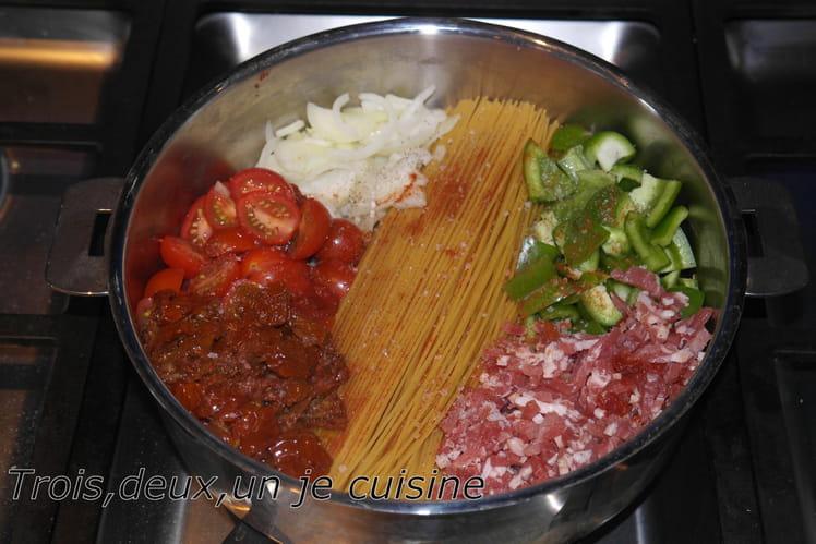 One pot pasta aux tomates séchées