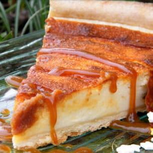 tarte légère mirabelle et caramel