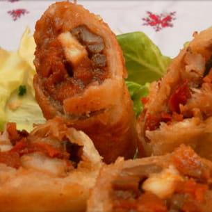 cigares (ou briouates) crevettes-légumes