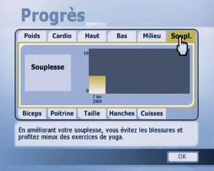 un tableau résume les progrès réalisés par critère.