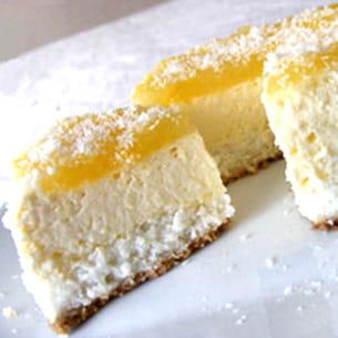 cheesecake noix de coco et mangue anisée