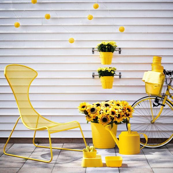 deco jardin jaune