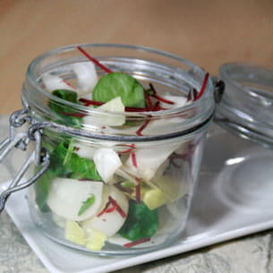 salade de radis, endives, betterave
