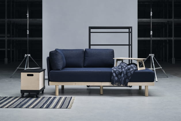 Råvaror: une collection flexible pour petits espaces et urbains qui déménagent souvent