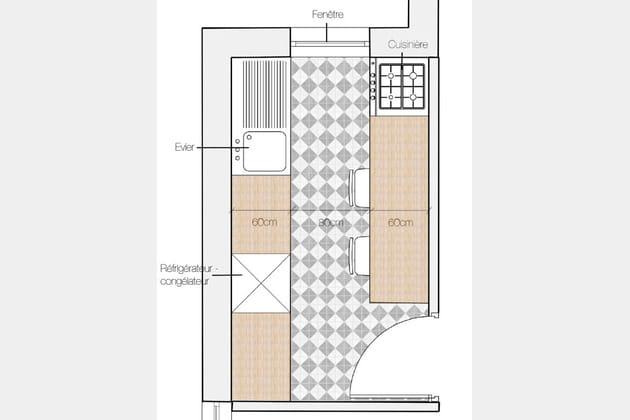 cuisine en double i. Black Bedroom Furniture Sets. Home Design Ideas