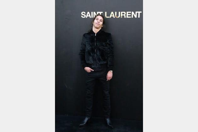 Moha La Squale au défilé Saint Laurent