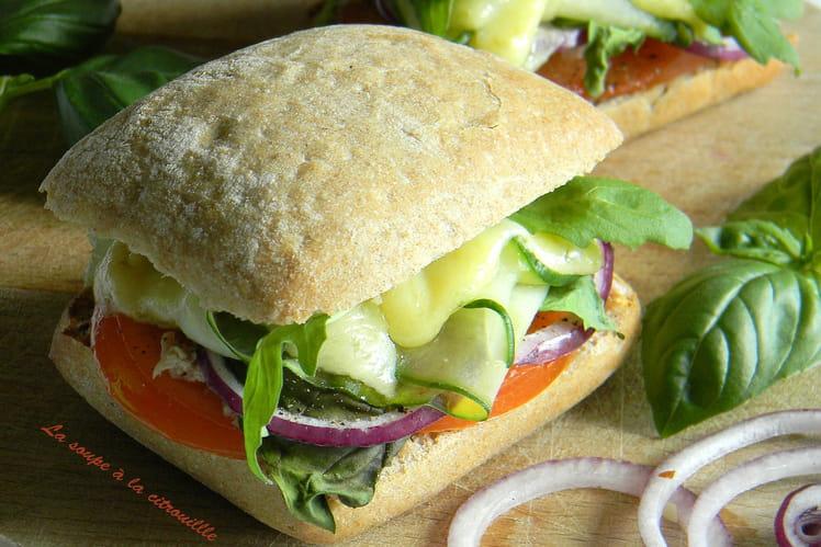 Cheeseburger végétarien