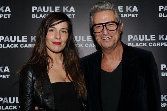 Zoé Félix et Serge Cajfinger à la présentation de la collection Black Carpet de Paule Ka