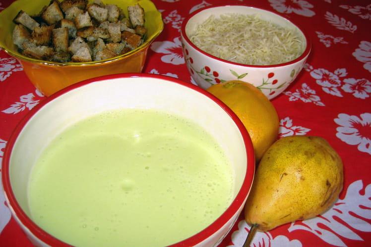 Soupe de courgettes, pommes de terre et fromage