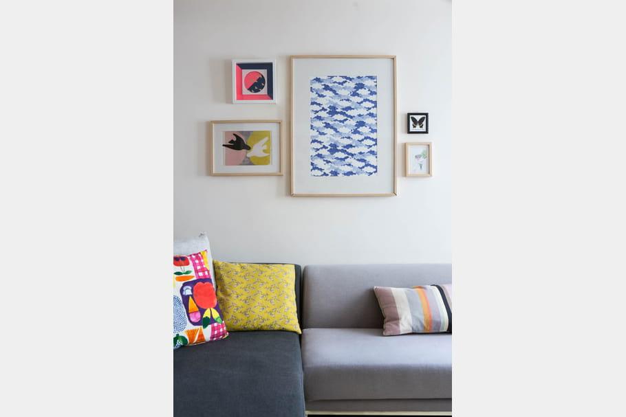 Sur les murs, des touches de couleurs