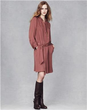 la robe-chemise et les bottes guêtres de vanessa bruno pour la redoute