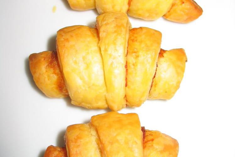 Minis croissants au jambon