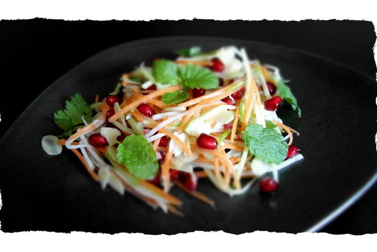 Salade de radis et grenade