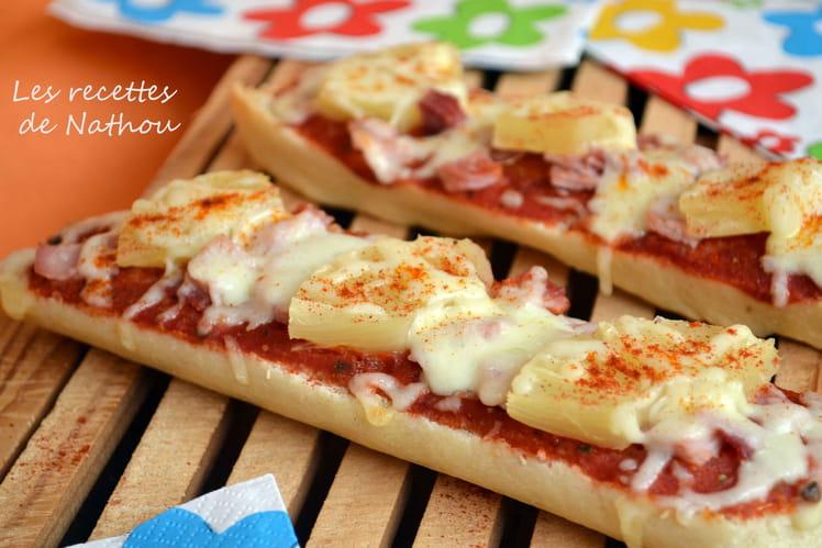Pizza - baguette à la hawaïenne