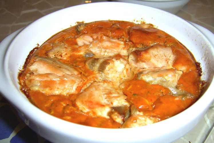 Clafoutis au saumon et à la tomate