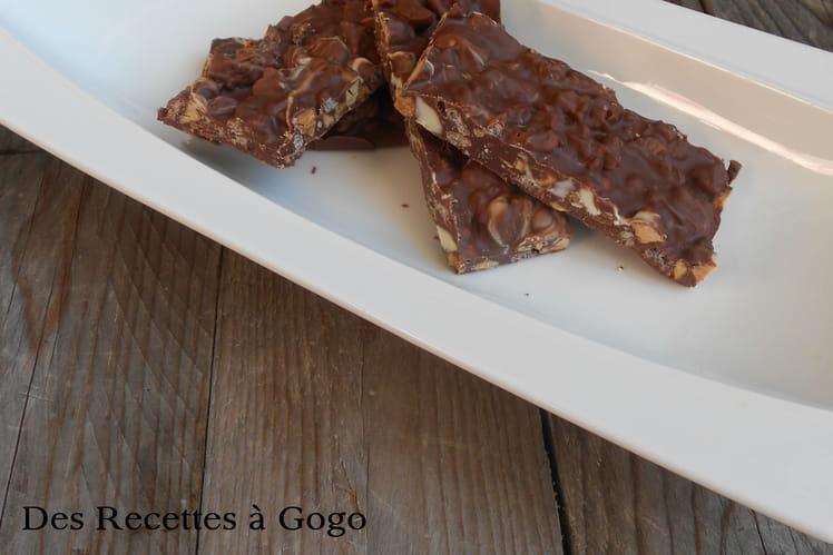 Barres chocolat amandes