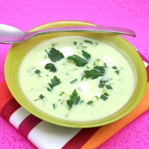 soupe de courgettes à la vache qui rit®