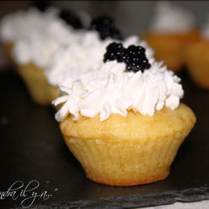 mini cupcake salé au saumon fumé