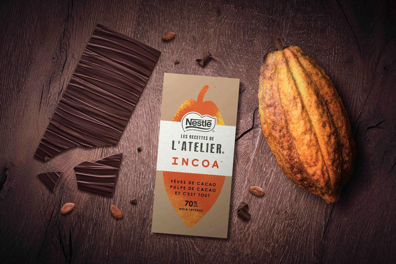 INCOA: la tablette de chocolat zéro sucre ajouté, 100% fruit du cacaoyer