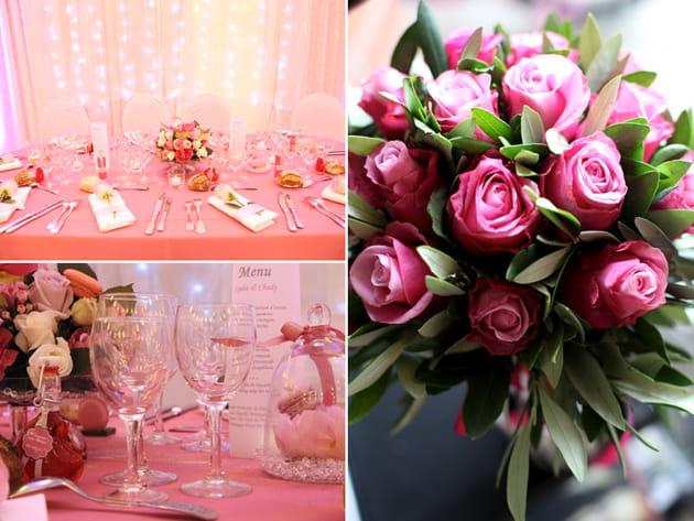 Mariage rose : Com'une orchidée