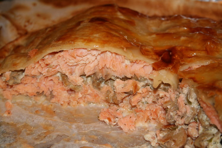Tourte de saumon frais