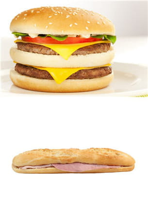 hamburger ou jambon-beurre.
