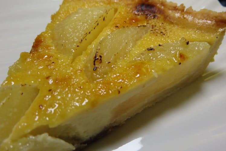 Tarte poires-crème brûlée