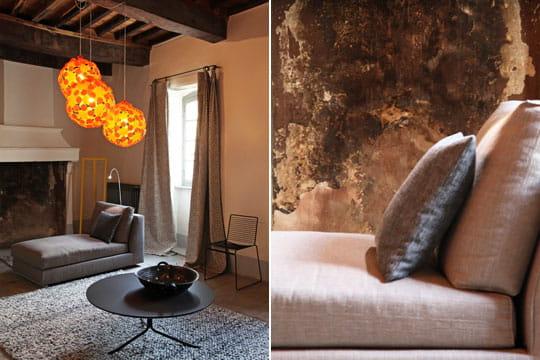 mur brut. Black Bedroom Furniture Sets. Home Design Ideas