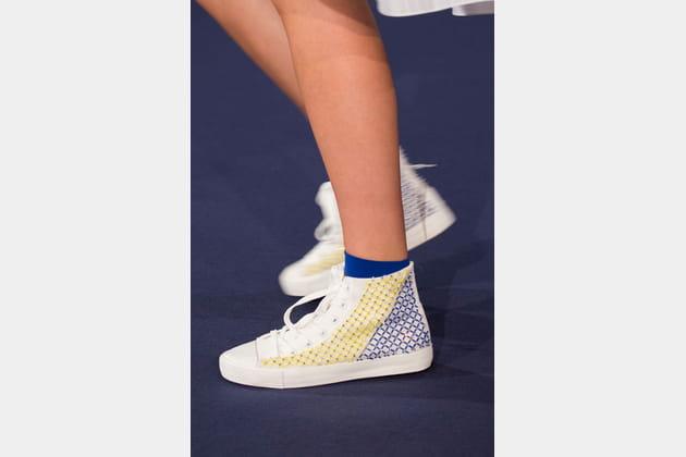 Les baskets montantes du défilé Alexis Mabille