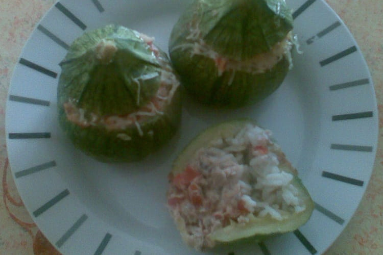 Courgettes rondes farcies tomate-sardine
