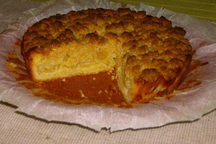 Gâteau crumble à l'ananas
