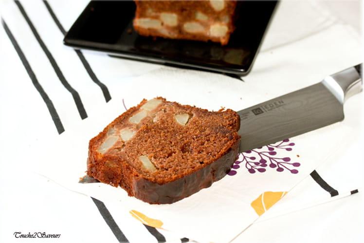 Cake poire-chocolat, au caramel et à l'agave