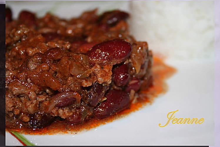 Recette de le vrai chili con carne la recette facile - Recette chili cone carne thermomix ...