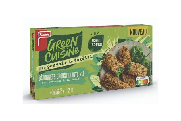 Les bâtonnets croustillants Green cuisine de Findus
