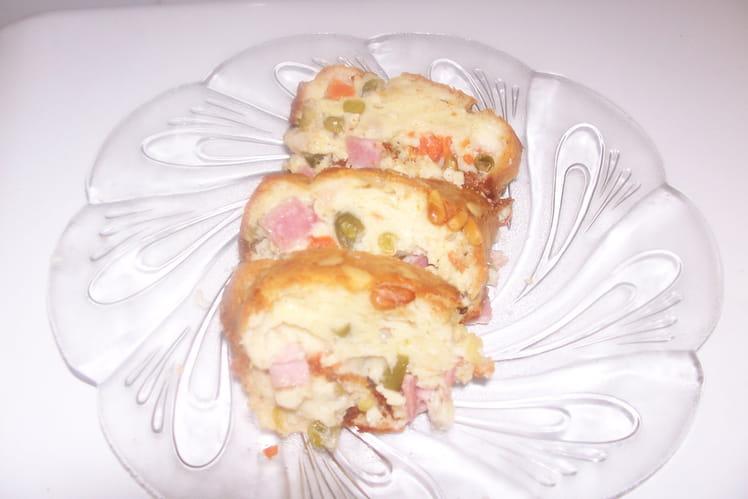 Cake au jambon et à la macédoine de légumes