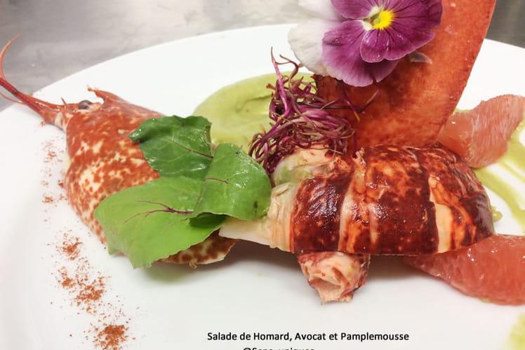 Salade de homard, avocat et pamplemousse