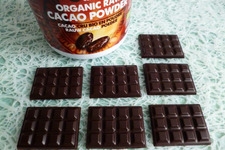 Mini-tablettes de chocolat cru très intenses 100% cacao cru