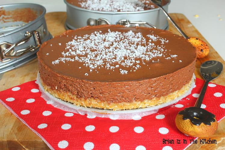 Cheesecake chocolat et coco sans cuisson