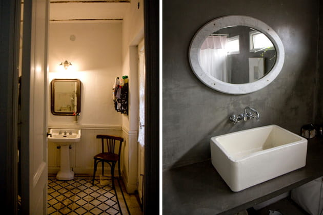 Des salles de bains en contraste