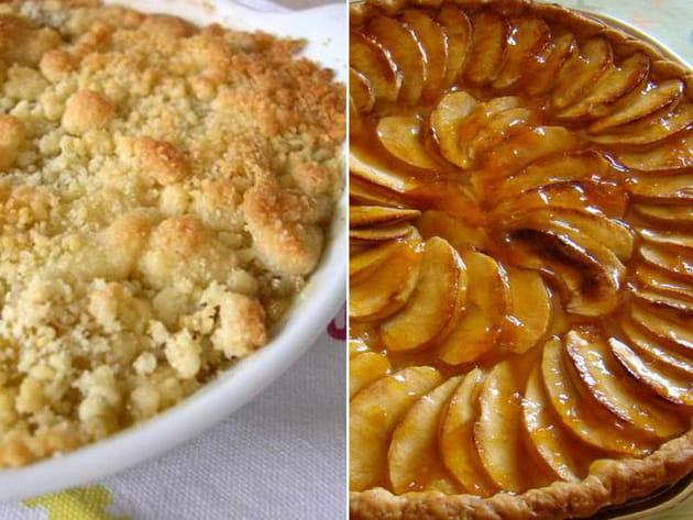 Crumble ou tarte aux pommes ?