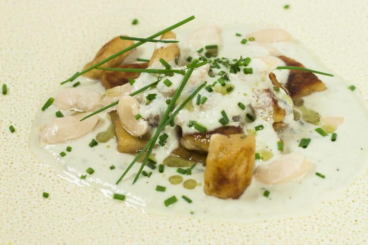 Gnocchi de Haricots Tarbais et Crème de roquefort
