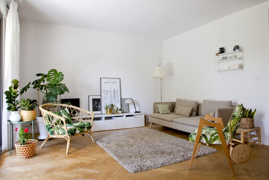Un salon d'inspiration green